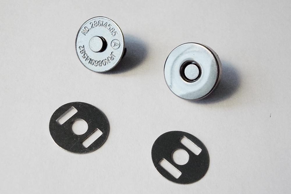 Застежка «Кнопка магнитная» черный никель