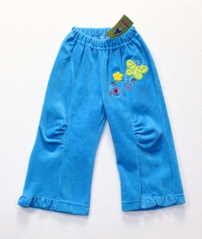 Брюки велюровые для девочки 5235 голубые