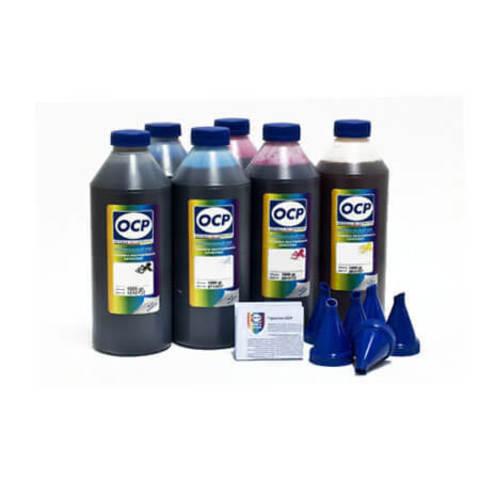 Комплект чернил OCP повышенной светостойкости для Epson T50, P50, 1410, PX660, R270, TX650, R290, RX610, R390 - OCP BK 140 (340 edition), C140, M/Y 140, ML/CL 141. 6 x 1000гр