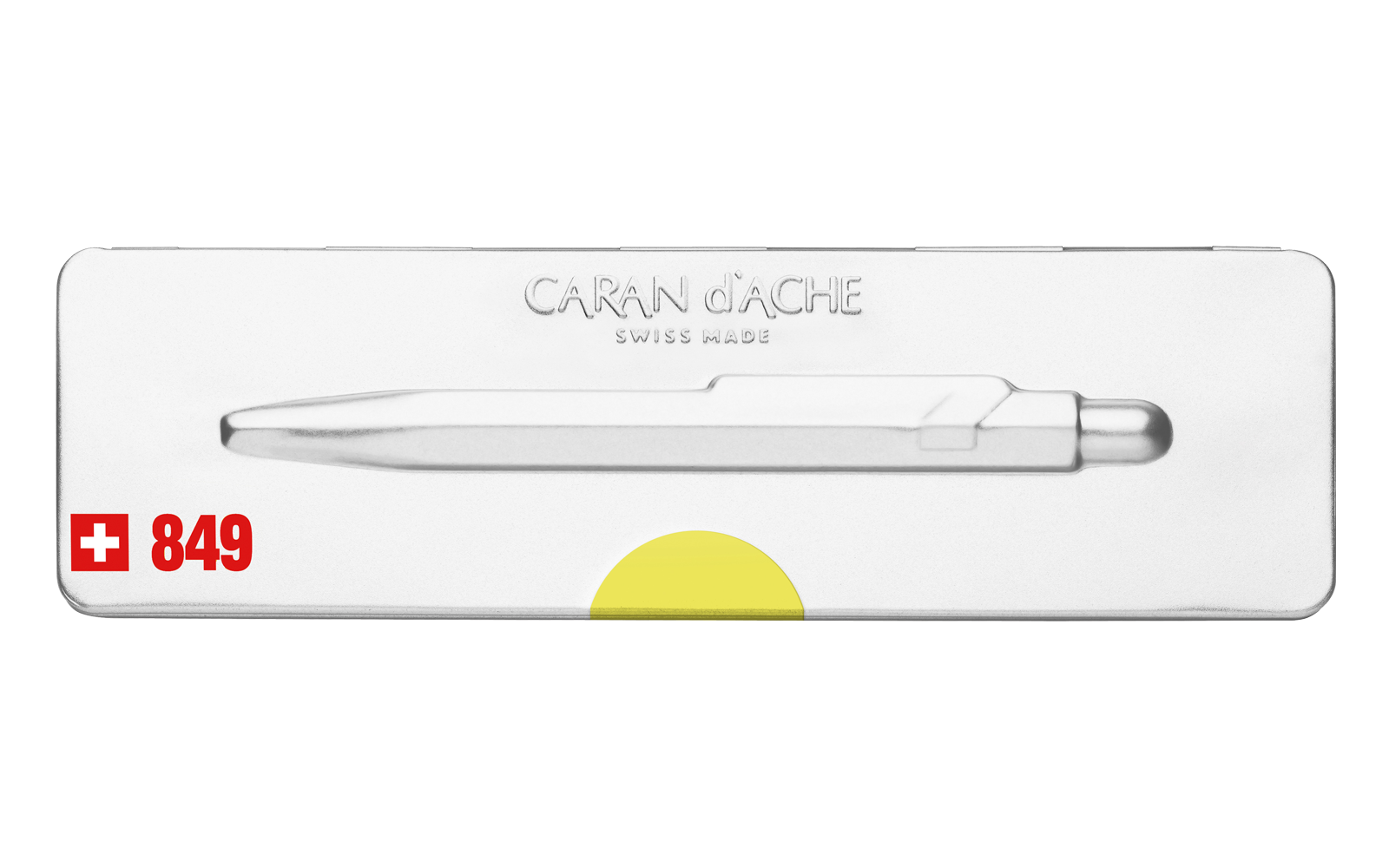 Carandache Office 849 Pop Line - Yellow, шариковая ручка, M