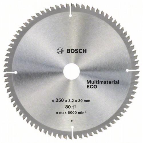 Диск по дереву BOSCH 250х3,2х30 мм MultiMaterial ECO