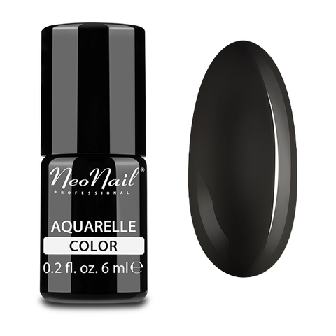 NeoNail Гель-лак акварельный UV 6ml Black Aquarelle №5514-1