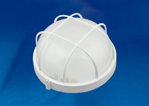 ULW-K22B 12W/6000K IP54 WHITE Светильник светодиодный влагозащищенный. Круг с решеткой. Дневной белый свет (6000K). 1200Лм. Диаметр 188мм. Корпус белый. ТМ Uniel.