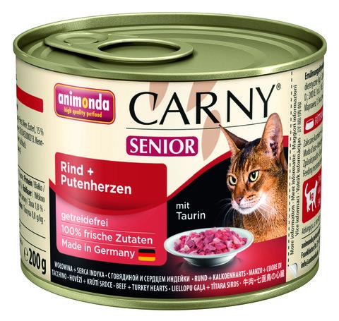 Консервы Animonda Carny Senior с говядиной и сердцем индейки для  кошек старше 7 лет