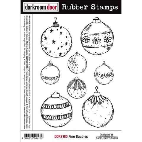 Штамп Darkroom Door Cling Stamps -  Fine Baubles- 12х18см