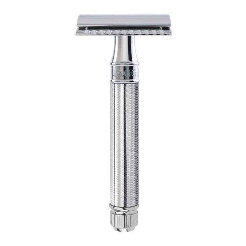 Т-образный станок Edwin Jagger DE89KN14bl Closed comb ребристая ручка