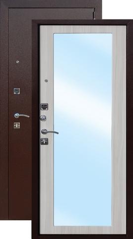 Дверь входная Цитадель Царское Зеркало Макси, 2 замка, 1,2 мм  металл, (медь антик+дуб сонома)