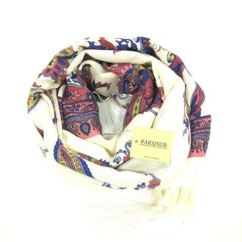 Шарф в светлых тонах в Русском стиле, магазин aksisur.ru