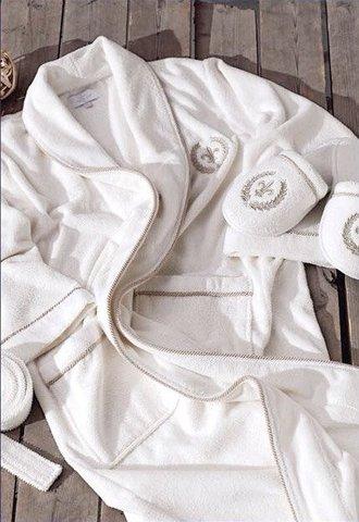 SEYMOUR  СЕЙМУР махровый мужской  халат с тапочками  Maison Dor Турция