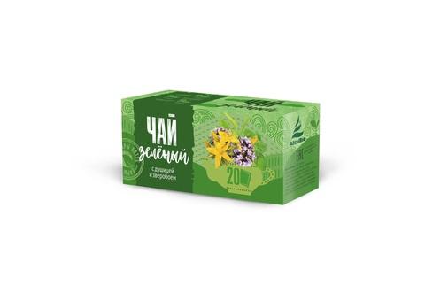 Чай зеленый с душицей и зверобоем Алтэя фото1