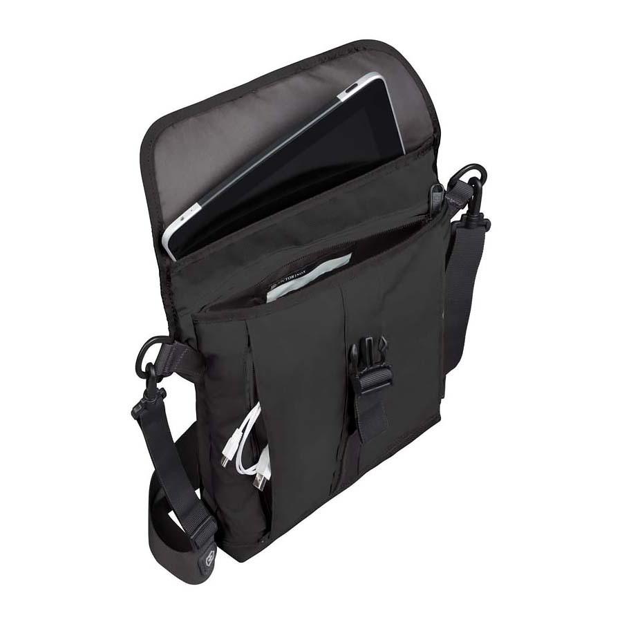 Сумка наплечная Victorinox Altmont 3.0 Flapover Bag, чёрная, 27x6x32 см, 5 л