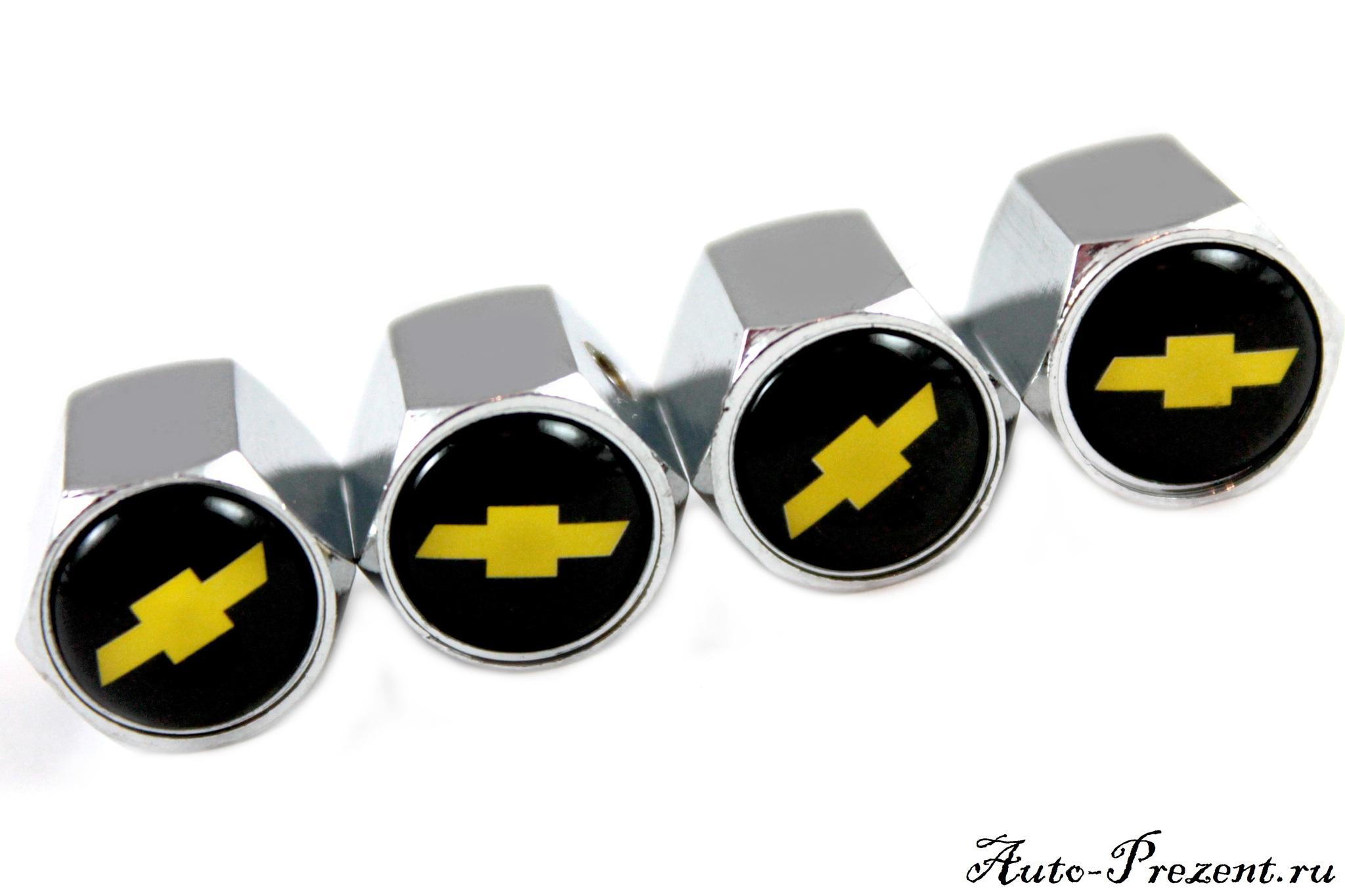 Колпачки на ниппель CHEVROLET с защитой от кражи