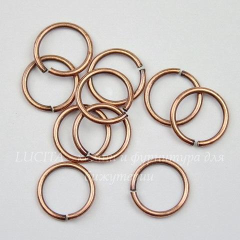 Колечко одинарное TierraCast 9,7х1 мм (цвет-античная медь), 10 штук