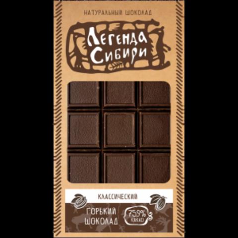 Шоколад горький классический Сибирский Клад, 100г