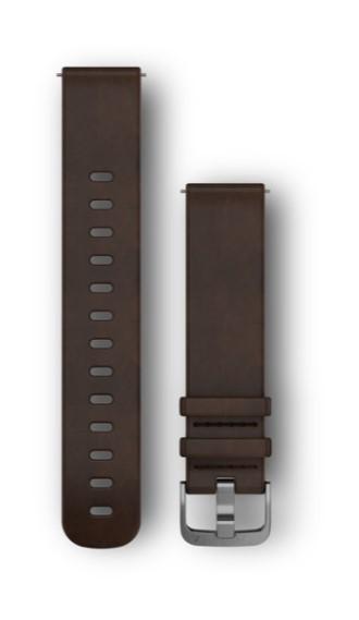 Кожаный ремешок Garmin коричневый