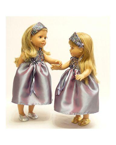 Платье вечернее - На кукле. Одежда для кукол, пупсов и мягких игрушек.