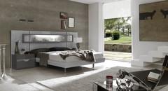Кровать Fenicia Mobiliario 503 VITRINA Gris-Claro