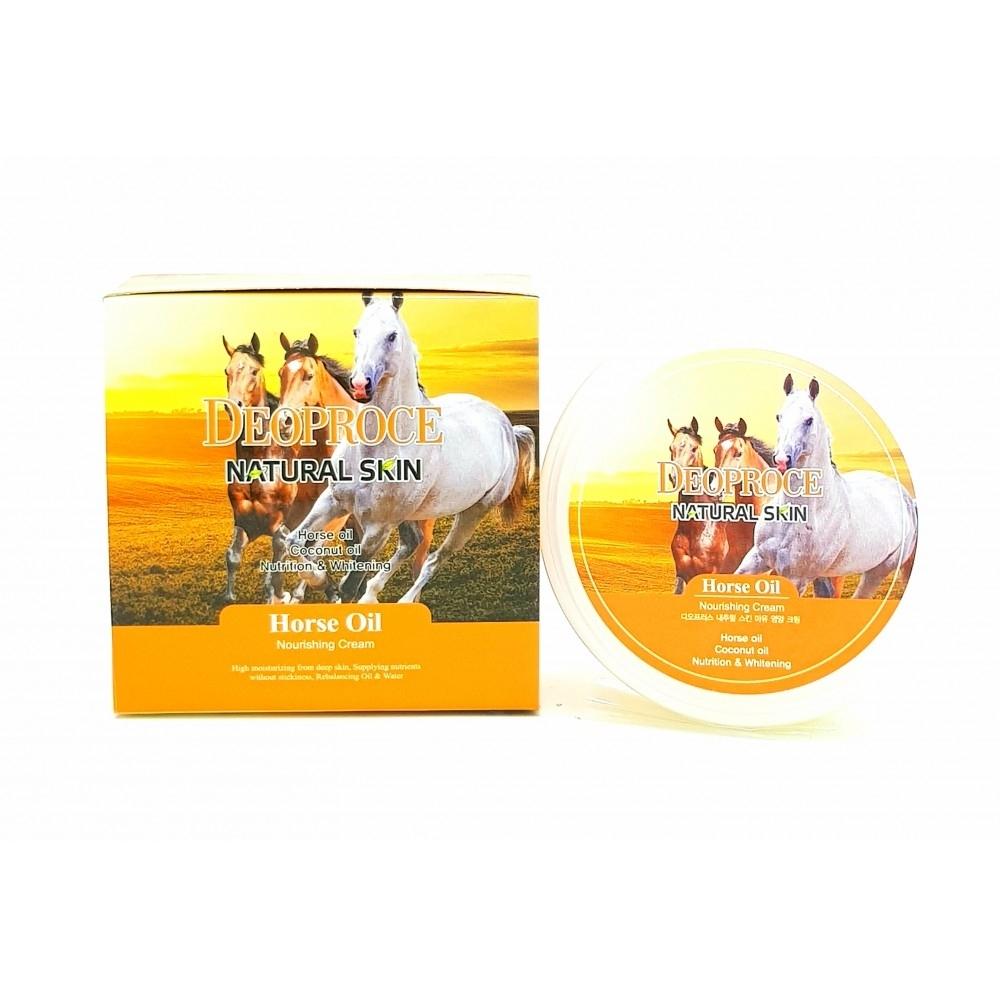DEOPROCE Крем д/лица Лошадиное масло Natural Skin Horse Oil Nourishing cream 100гр