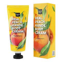 FarmStay Real Peach Hand & Body Cream - Крем для рук и тела с персиком
