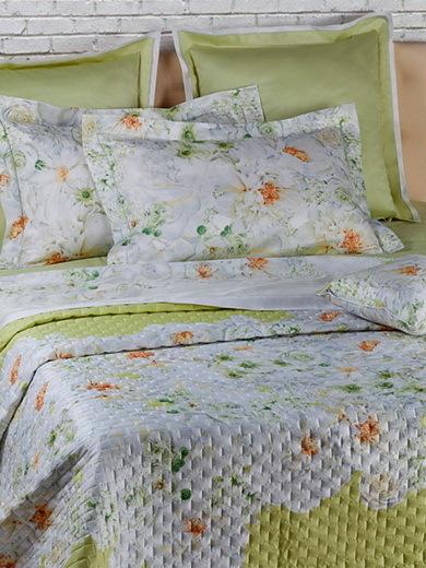 Покрывала Покрывало 260х270 Mirabello White Bouquet белое pokryvalo-mirabello-white-bouquet-zelenoe-italiya.jpg