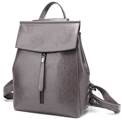 Рюкзак женский JMD Zip 2017 Серый