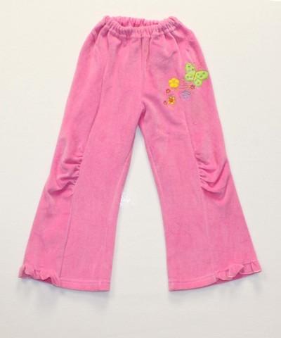 Брюки велюровые для девочки 5235 розовые