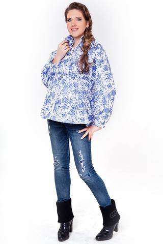 Ветровка для беременных 04815 белый/синий