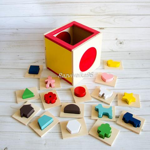 Сенсорный куб Монтессори
