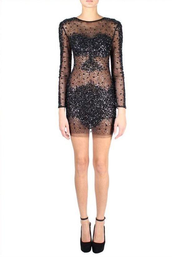 Jovani 7757 Платье короткое, усыпанное камнями. Застежка: потайная молния сзади