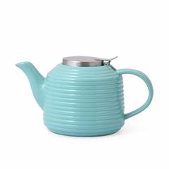 6055 FISSMAN Заварочный чайник 900 мл с ситечком, цвет АКВАМАРИН (керамика)
