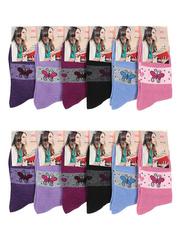 A30 носки женские цветные 37-42 (12шт)