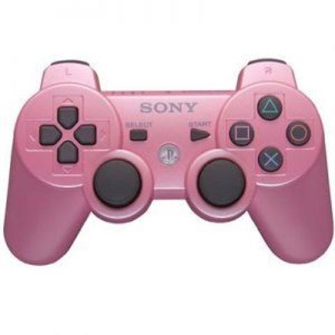 Sony PS3 Контроллер игровой беспроводной (розовый, копия)