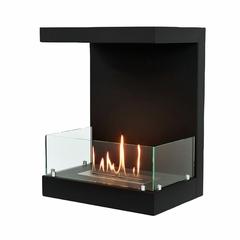 Торцевой биокамин Lux Fire Фронтальный 500 M (черные держатели стекол)