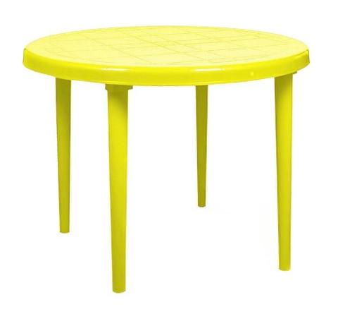 Стол круглый д-900. Цвет: Желтый