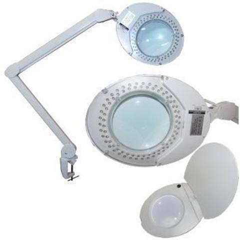 LED лампа-лупа c креплением к столу