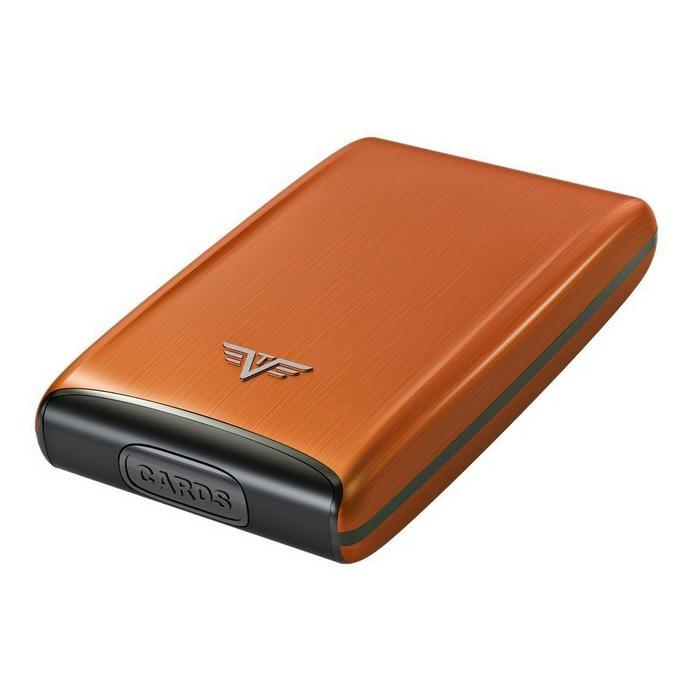 Визитница c защитой Tru Virtu RAZOR, цвет оранжевый , 104*68*20 мм