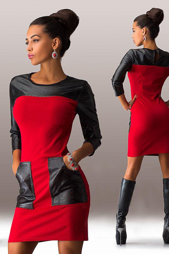 3eadf6c248f Короткое трикотажное платье с карманами