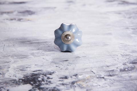 Ручка мебельная керамическая серая, арт. 00001053