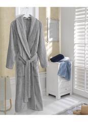 SORTIE СОРТИ серый махровый халат SOFT COTTON (Турция)