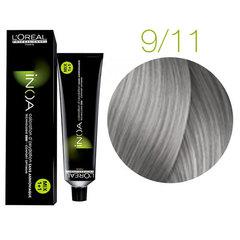 L'Oreal Professionnel INOA 9.11 (Очень светлый блондин пепельный интенсивный) - Краска для седых волос