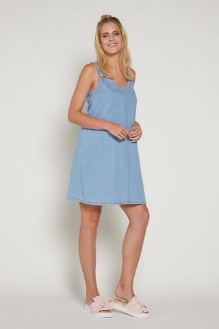 Платье 09369 голубой