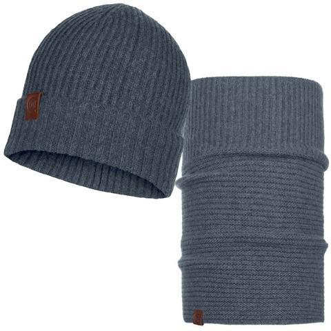 Комплект шапка-шарф Buff Biorn Grey