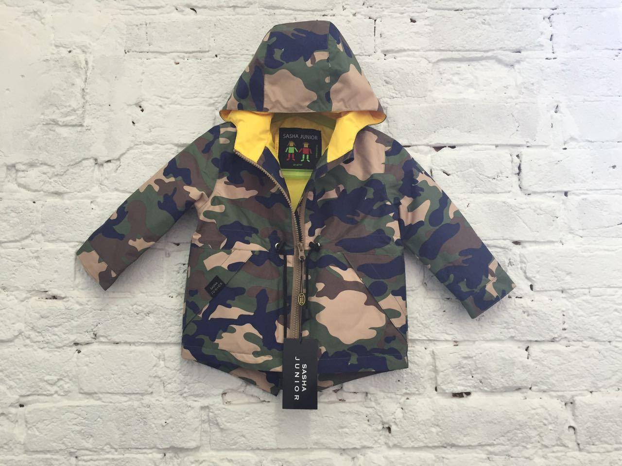 парка куртка детская весенняя теплая SASHA JUNIOR цвет милитари2