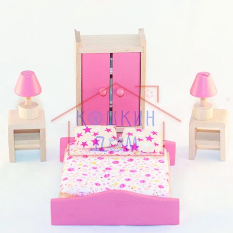 Деревянная игрушечная спальня МДИ Д270/Wooden toys