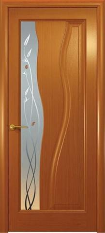 Дверь Океан Гольфстрим new, стекло белое, цвет анегри, остекленная