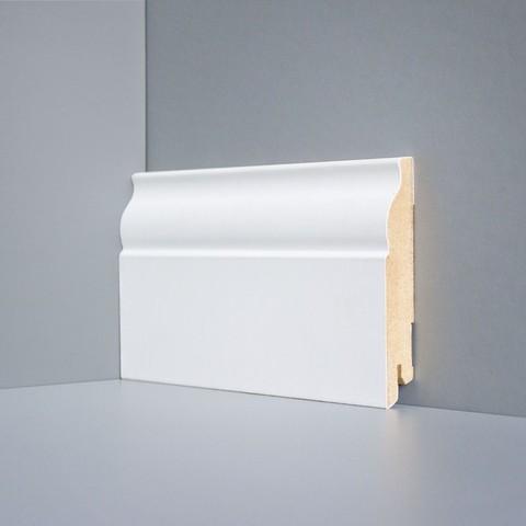 Белый ламинированный плинтус DEARTIO U103-100