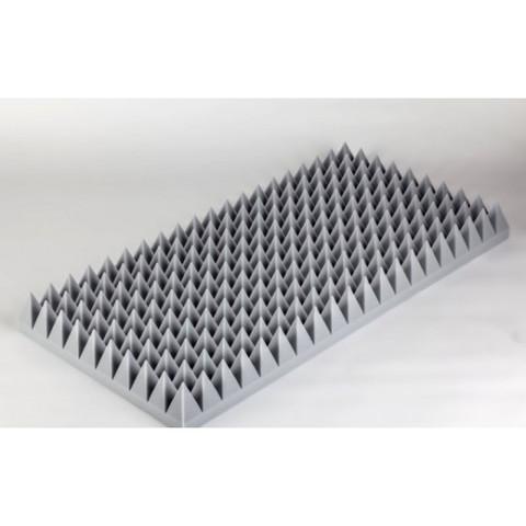негорючая  акустическая панель  Пирамида ECHOTON FIREPROOF 100x50x7cm  из материала  BASOTECT серый
