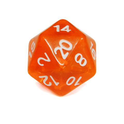 Куб D20 прозрачный: Оранжевый