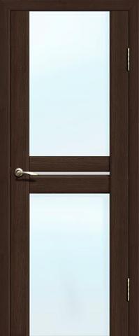 Дверь La Stella 302, стекло матовое, цвет дуб мокко, остекленная