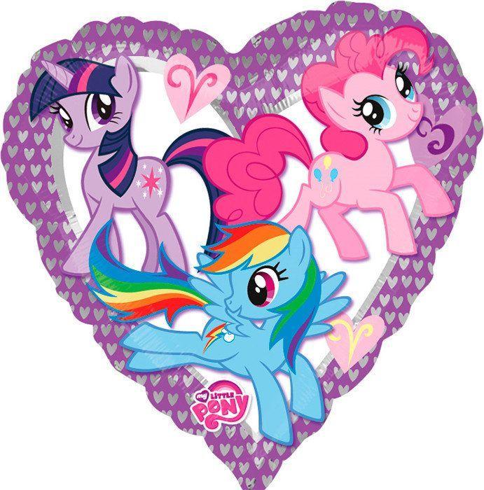 My Little Pony Фольгированный шар сердце My Little Pony 5695-970-jpg.jpg